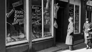 A potential customer eyes up the meat in a shop window in Co Wexford in April 1944. Photo: Daily Mirror/Mirrorpix/Mirrorpix via Getty Images