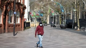 The normally bustling streets in the Hayes in Cardiff are almost empty as people heed warnings on the coronavirus