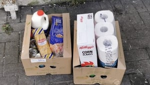 Every hamper contains a supply of food for one parent and threechildren