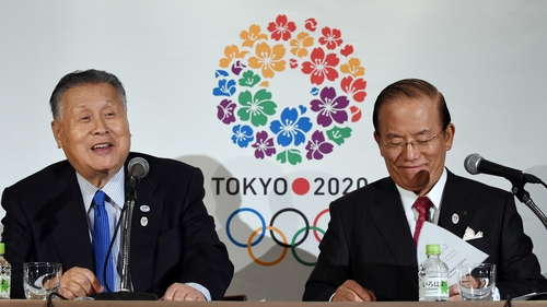 President of Tokyo 2020 Yoshiro Mori (L) and chief executive  Toshiro Muto are not underestimating the magnitude of the task that they face