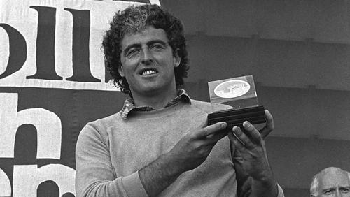 John O'Leary celebrates his Irish Open success of 1982
