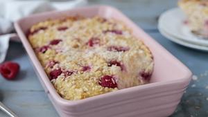 Baked Raspberry Oats