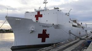 The US Navy hospital ship USNS Comfort