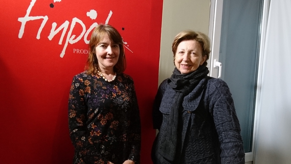 Poet Catherine Ann Cullen and Poetry Programme host Olivia O'Leary