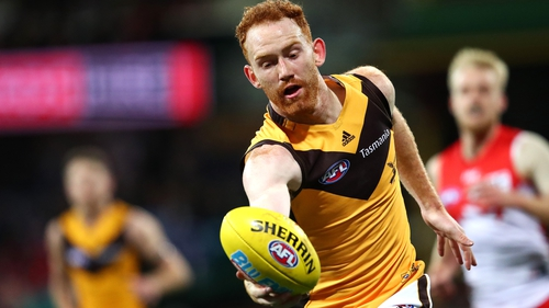 Conor Glass in action for Hawthorn