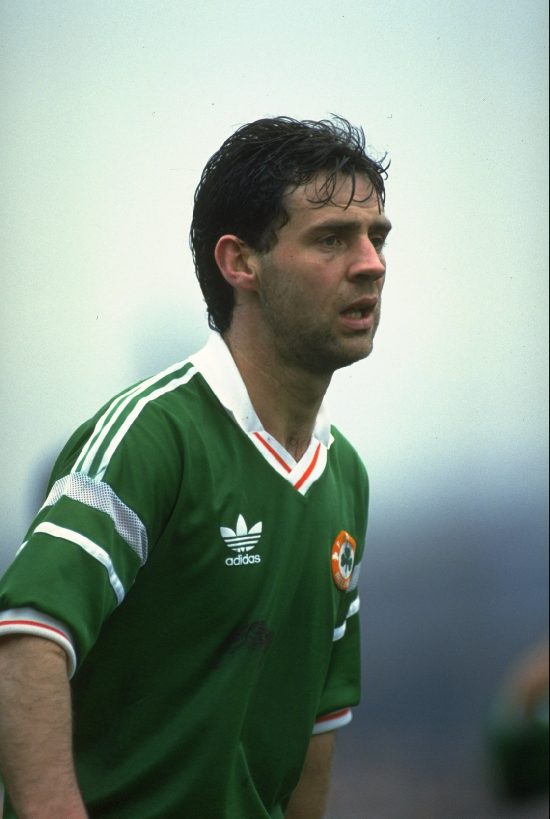 Image - Jim Beglin in 1990 during a B international against England
