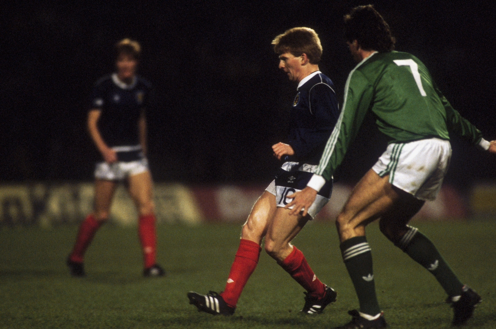 Image - Gordon Strachan of Scotland in action during the European Championships 1988 Qualifying match