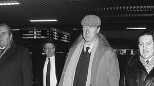Jack Charlton at Dublin airport in February '86