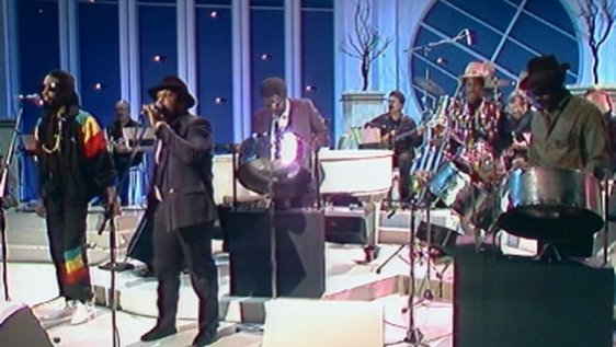 Century Steel Band performing on 'Kenny Live' (1990)