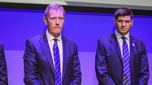 Dave King and manager Steven Gerrard at the Rangers AGM