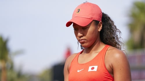 Naomi Osaka representing Japan in a 2020 Fed Cup qualifier in February