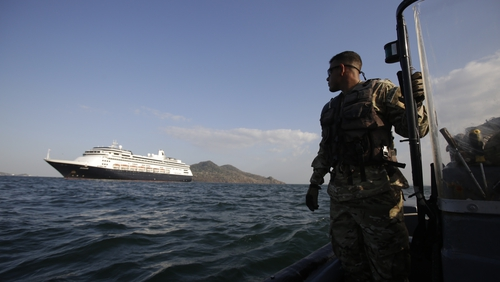 The MS Zaandam was denied access to the Panama Canal for sanitary reasons
