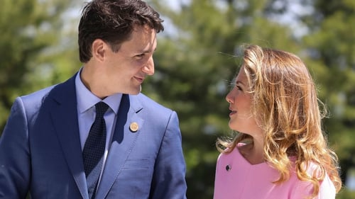 Canadian Prime Minister Justin Trudeau with his wife Sophie (file pic)