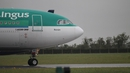 The Aer Lingus flight arrived back at Dublin Airport today