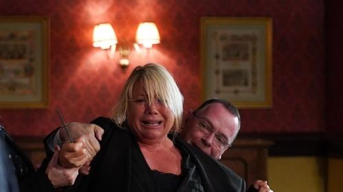 Sharon struggles to remain calm