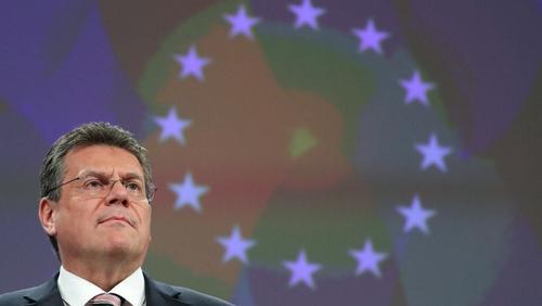 The EU delegation was led by the European Commission Vice-President Maroš Šefcovic