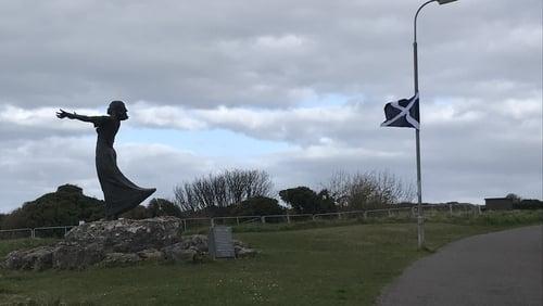 Rosses Point Development Association has seen flags raised on poles along the popular promenade walk in the village