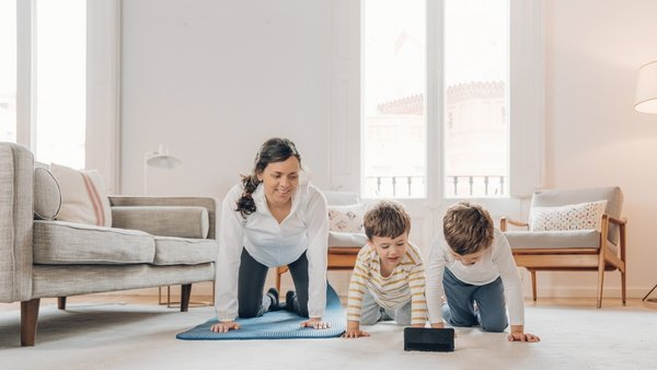 Adults and kids are keeping fit from the comfort of their own homes