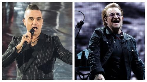 Let me entertain you? Robbie Williams recalls that time he serenaded Bono