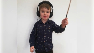Fiann, five, came up with a musical tribute to frontline workers