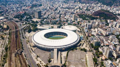 A view of the surrounds at the Maracana where the field hospital will be built