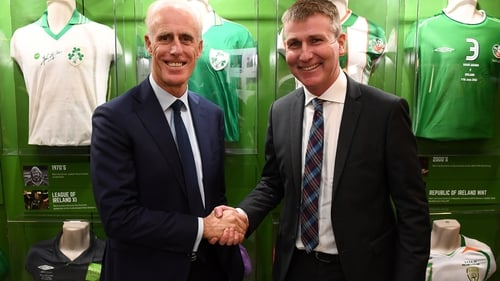 Mick McCarthy (L) and Stephen Kenny