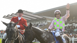 Burrows Saint and Ruby Walsh will remain reigning Irish Grand National winners for longer than expected