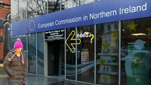 The EU closed its office in Belfast on 31 January