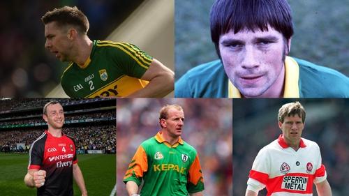Clockwise from top left: Marc Ó Sé (Kerry), Páidí Ó Sé (Kerry), Tony Scullion (Derry), Martin O'Connell (Meath) and Keith Higgins (Mayo)