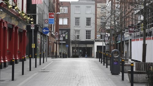 Normally bustling streets are experiencing little in the way of footfall