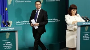 Minister Josepha Madigan was joined by Minister for Finance Paschal Donohoe at Government Buildings (Pic: RollingNews.ie)