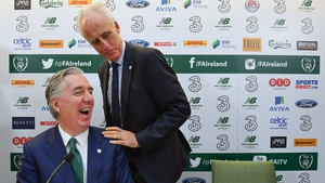 Happier times for John Delaney and Mick McCarthy at the new manager's unveiling