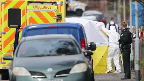 Robbie Lawlor was shot dead in the Ardoyne, north Belfast on Saturday morning