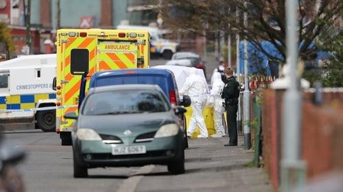 Robbie Lawlor was shot dead at close range outside a house at Etna Street inthe Ardoyne