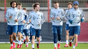 Players are training in Germany