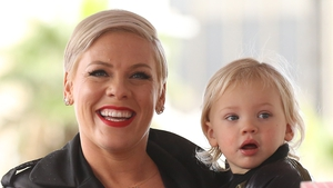 Pink with her son Jameson