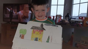 Young artist Jack O Driscoll, age 5, from Cork