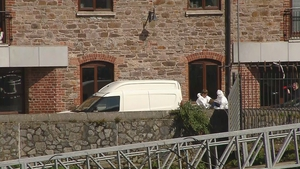 The scene of the stabbing in Carrick-on-Suir