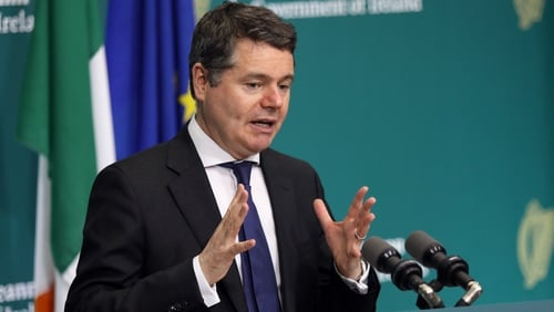 Finance Minister Paschal Donohoe said the Irish economic landscape 'has been turned on its head in recent weeks'