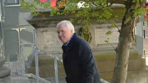 Thomas Coffey entering the court in Tralee