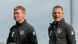 Jim Crawford (r) with new Ireland senior boss Stephen Kenny