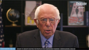 Bernie Sanders made the announcement in a live speech streamed to supporters