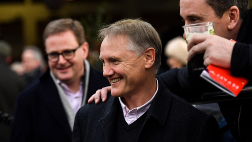 Racing fan Joe Schmidt poses for a picture at Leopardstown