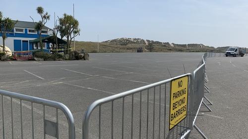 Curracloe beach car park has been closed