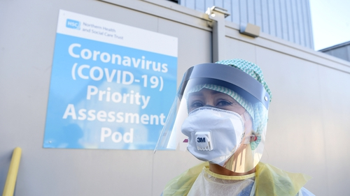 An Emergency Department nurse in Antrim Area Hospital, Northern Ireland