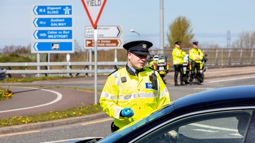 Gardaí carry out a checkpoint in Dublin last weekend (file photo)