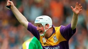 Tom Dempsey celebrates after Wexford's 1996 win