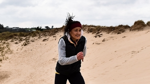 Phil Healy during a training session at Ballinesker Beach in Wexford