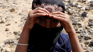 Young girl in the Al-Raqah refugee camp Yemen