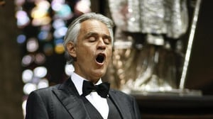 Andrea Bocelli performs a concert in the empty Duomo cathedral in Milan